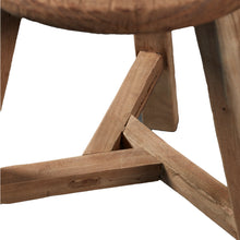 Load image into Gallery viewer, Rustic Pine Village Stool - Round