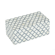 Load image into Gallery viewer, Bone Inlay White & Grey Hex Pattern Box - 2 sizes