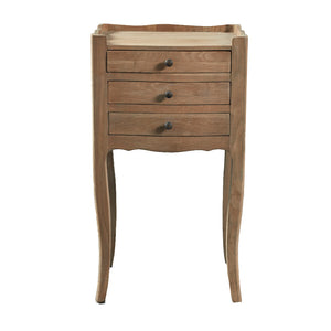 Petite side tables with 3 drawers - natural oak
