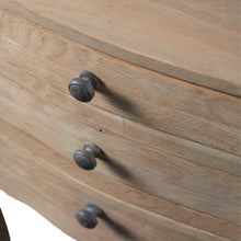 Load image into Gallery viewer, Petite side tables with 3 drawers - natural oak