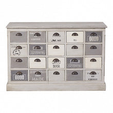 Load image into Gallery viewer, Grey and White Painted Chest of 20 Drawers - Cup Handle