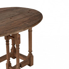 Load image into Gallery viewer, Reclaimed Elm Oval Drop Leaf Table - Natural Wood Base