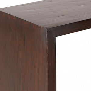 Contemporary Style Bamboo Console Table - Dark Brown Finish