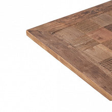 Load image into Gallery viewer, Industrial Reclaimed Elm Top Square Table - Metal Legs