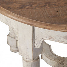 Load image into Gallery viewer, French Grey Painted Base Pine Top 8 Seat Dining Table - Oval