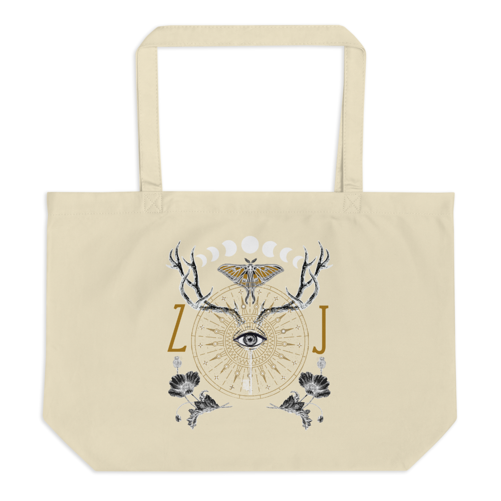ANIMUS Collection-Large organic tote bag-ORB OF NIGHT