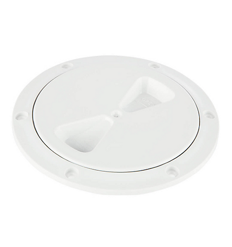 Deckplate, White, 4in