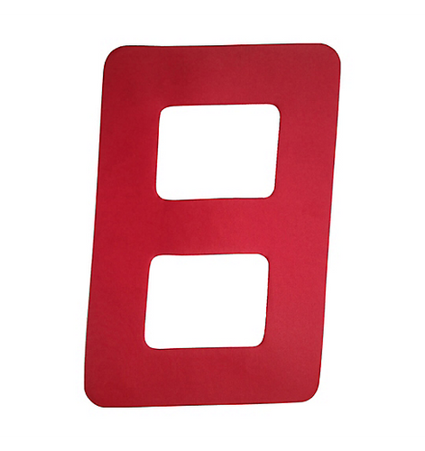 Sail Number, 9in, Red