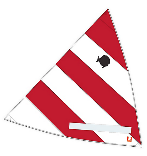 Sail, Sunfish, Main, Classic Red/White