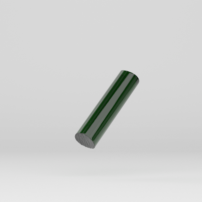 Acrylic Extruded Rod Green 2092