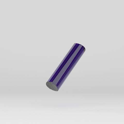 Acrylic Extruded Rod Purple 1918