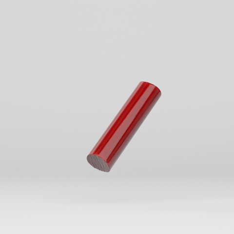 Acrylic Extruded Rod Red 2157