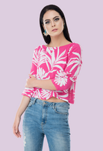 Load image into Gallery viewer, bubblegum pink top from not so sober