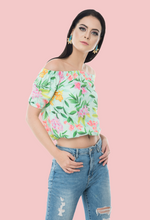 Load image into Gallery viewer, Jungli Billi off-shoulder  crop top online from notsosober.com