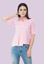 Load image into Gallery viewer, ping pong pink shirt collar shirt top online from not so sober