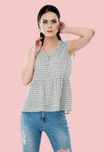 Load image into Gallery viewer, Shot me down sleeveless printed tops online in India from not so sober