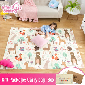 Infant Shining Baby Play Mat Xpe Puzzle Children's Mat Thickened Tapete