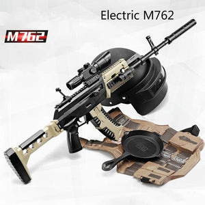 Airsoft Air Guns Electric Version M762 Rifle Plastic Safe Gel Ball Gun
