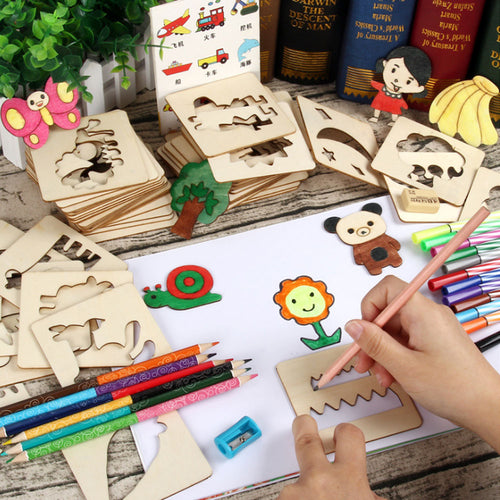 100Pcs Baby Toys Drawing Toys Coloring Board Children Creative Doodles Early Learning