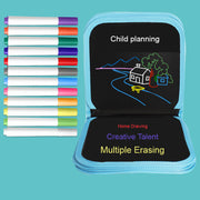 Childrens painting this magical movable tiny blackboard inventive graffiti painting water chalk erasable painting kindergarten gifts - FLORESKYLER