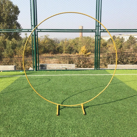 Iron Circle Wedding Arch Props Background Decor Single Arch Shelf Outdoor Lawn Wedding Flower Door Rack Party Decoration Frame - FLORESKYLER
