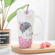 Cute Girl Ceramic Coffee Mug - FLORESKYLER