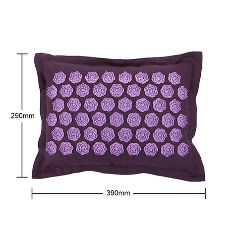 Multifunction Lotus Spike Acupressure Massager Pillow Relaxation Relief Stress Yoga Pad Spike Relieve Neck Stress Pain Cushion - FLORESKYLER