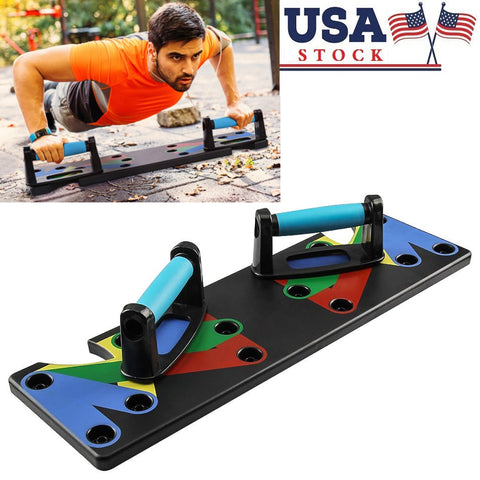 9 In 1 Push Up Rack Board Men Women Comprehensive Fitness Exercise Push-Up Stands Body Building Training System Home Equipment - FLORESKYLER