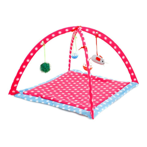 Pet Cat Tent Bed Playing Hammock Soft Toy - FLORESKYLER