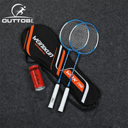 Outtobe 2PCS Badminton Racket Set-Professional Carbon Fiber Badminton Racket with 2 shuttlecocks and Carrying Bag for Beginner - FLORESKYLER