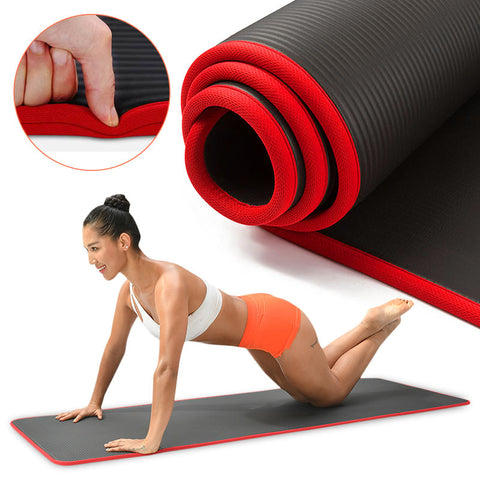 10mm Yoga Mat Extra Thick 1830*610mm NRB Non-slip Pillow Mat For Men Women Fitness Tasteless Gym Exercise Pads Pilates Yoga Mat - FLORESKYLER