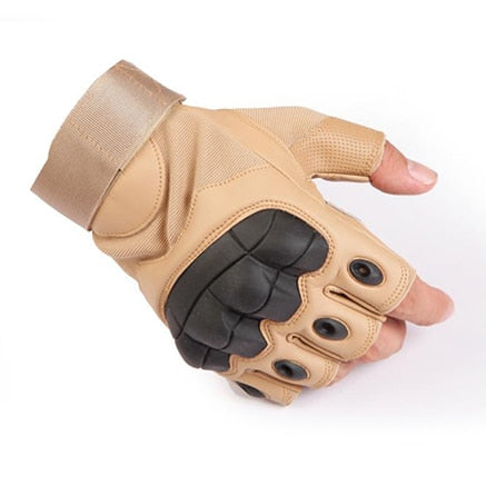 Touch Screen Hard Knuckle Tactical Gloves PU Leather Army Military Combat Airsoft Outdoor Sport Cycling Paintball Hunting Swat - FLORESKYLER