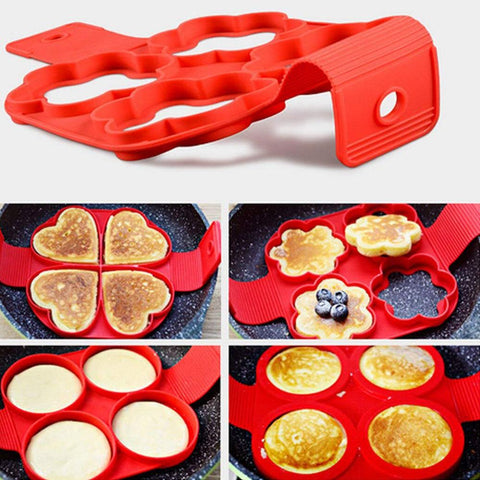 New product hot sale silicone four-hole omelette nonstick round shape kitchen gadgets and accessories for kitchen - FLORESKYLER