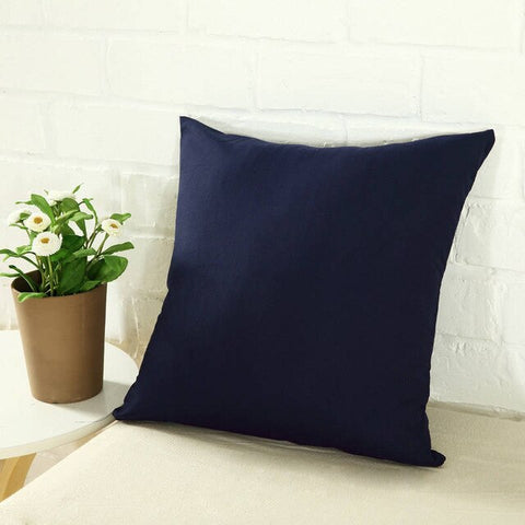 Hot Solid Hot Pillowcase Simple Plain Decorative Cushion Cover Home Decoration Products Sofa Car Chair Pillow Case Company Gifts - FLORESKYLER