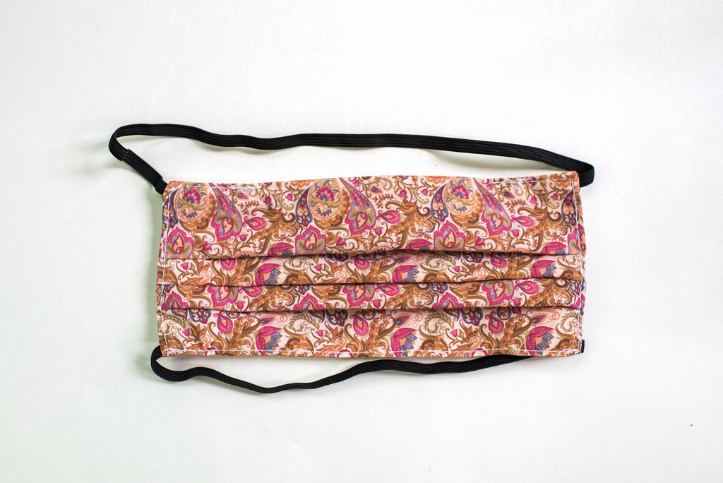Pleated Paisley (Pink) Pattern - Maskcott