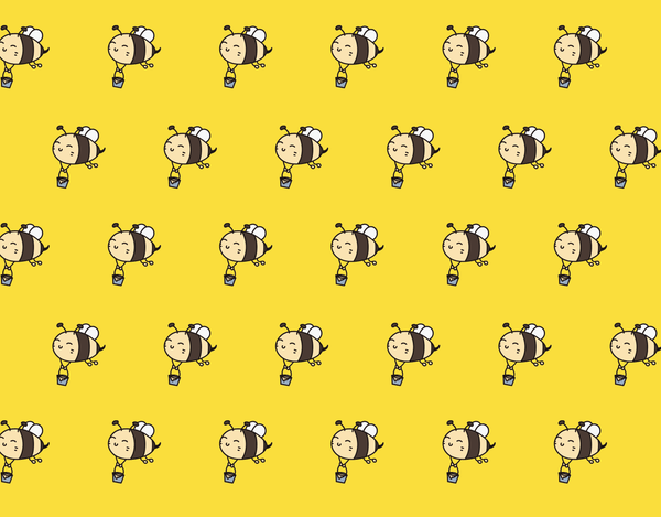 Pleated Bees Pattern - Maskcott