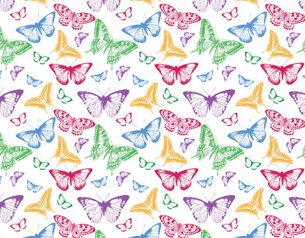 Pleated Butterfly Colorful Pattern - Maskcott