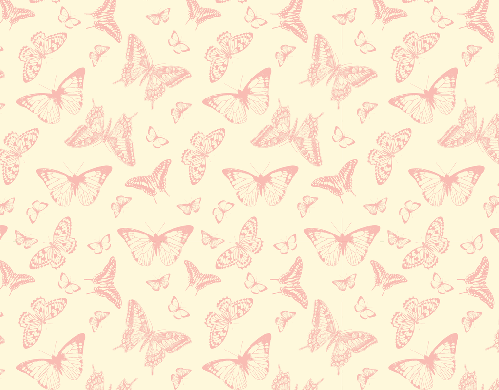 Pleated Butterfly Pink Pattern - Maskcott