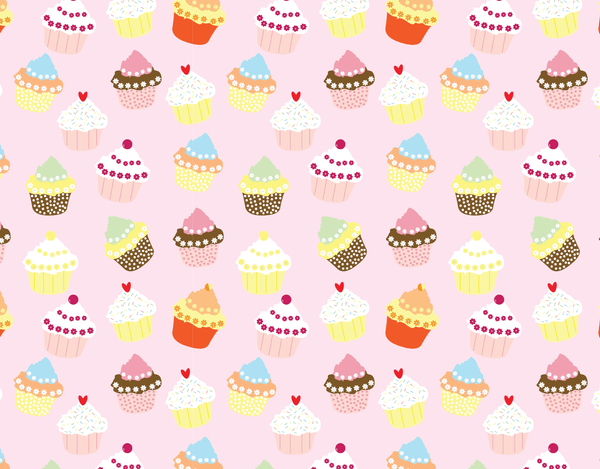 Pleated Cupcake Pattern - Maskcott