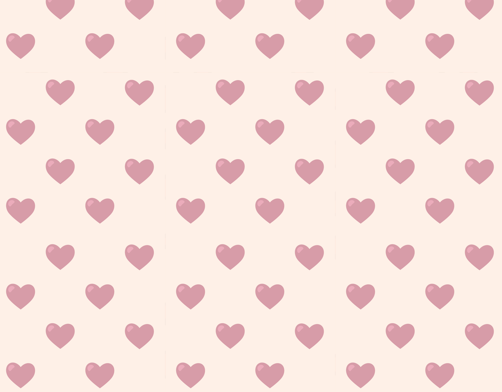 Pleated Hearts (Pink) Pattern - Maskcott