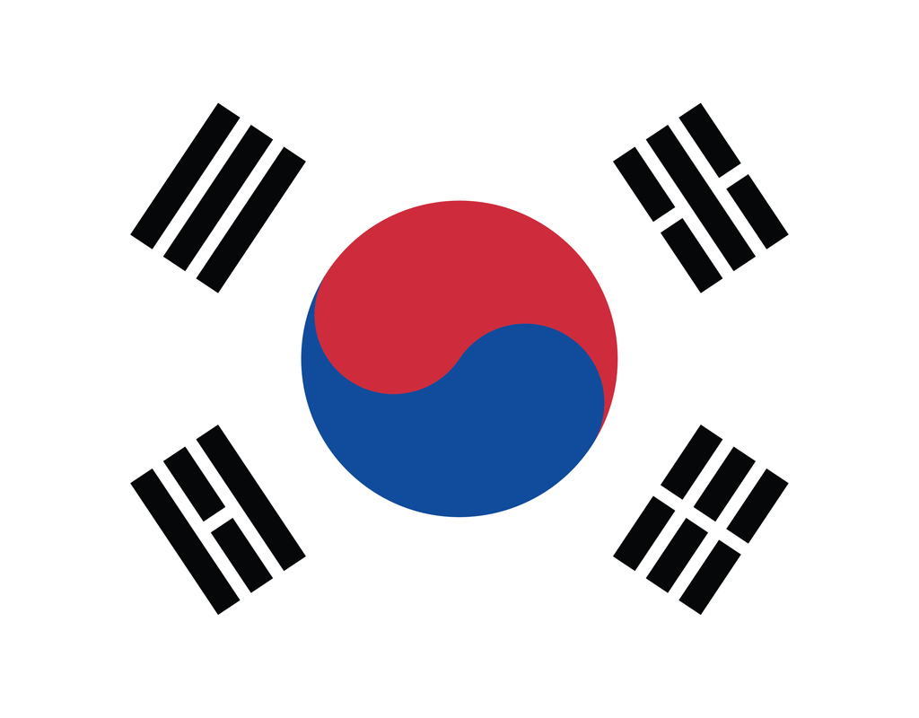 Pleated South Korea Flag - Maskcott