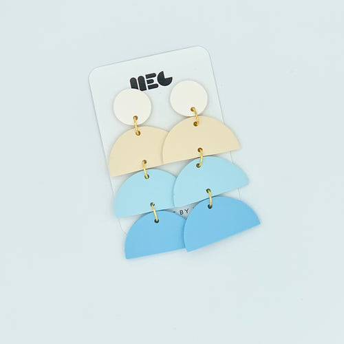 BLUE COLOR BLOCK REEMA EARRINGS