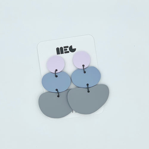 COLOR BLOCK BEAN QUEEN CLAY EARRINGS