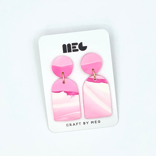MARBLED PINK RAE EARRINGS