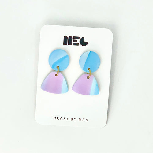 COTTON CANDY MARBLED SOPHIA EARRINGS