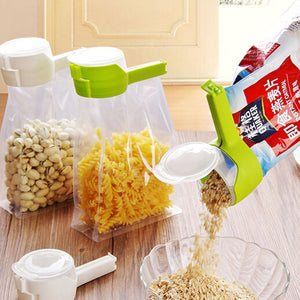 2PCS pour food storage bag clip snack seal clip to keep fresh sealer clip food protector travel kitchen tool