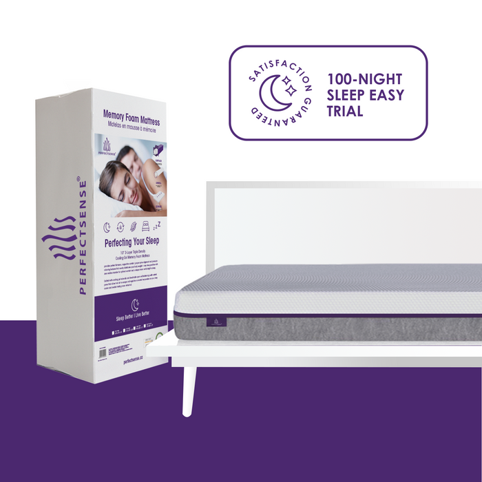 "The Perfect Mattress | 10"" 3-Layer Triple Density Cooling Gel Memory Foam Mattress In A Box 