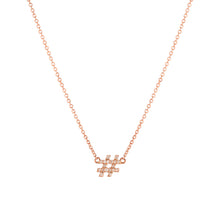 Load image into Gallery viewer, Hashtag (#) pendant with chain
