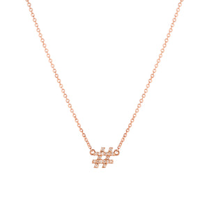 Hashtag (#) pendant with chain