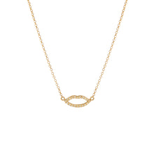 Load image into Gallery viewer, Silhouette Lips Diamond Pendant with Chain (yellow gold)